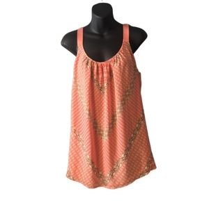 Lane Bryant Tops - Lane Bryant Pink Patterned Tank Top